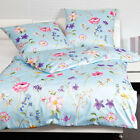Janine Mako Satin Bettwäsche moments 98011-09 multicolor pastellblau lila Blumen