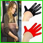 New (Sex And The City) Women's 100% Real Leather Semi-Palm Gloves Fingers Gloves