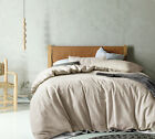 NEW Linen & Cotton Taupe Quilt Cover Set