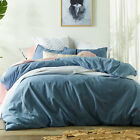 NEW Stonewashed Denim Linen & Cotton Quilt Cover Set