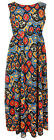 New Plus Size Sleeveless Blue Multicolour Maxi Dress - Size 16 & 20