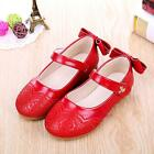 New Spring Summer Kids Young Kids Girls Embroidered Flowers School Leather Shoes