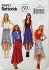 BUTTERICK PATTERN SKIRT LOOSE FIT LINED 4 DESIGNS EASY SIZE L-XXL (16-26 # B5892