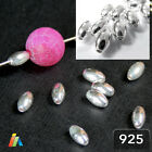 925 STERLING SILVER OVAL SPACER BEADS 3/4/5mm JEWELRY FINDINGS