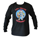 T SHIRT LONG SLEEVE LOS POLLOS BREAKING BAD MENS BLACK ALL SIZES S TO 3XL