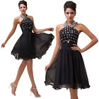 Formal Dress Cocktail Evening Prom Bridesmaid Party Graduation Short Mini Dress