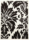 NEW Viva Modern Leave Black / White Contemporary Rug