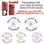 personalised teacher school rubber stamp (star image) praise reward merit mark