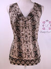 Calvin Klein New Printed Cowlneck Shell S65CM63S Size L New NWT