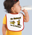 Rabbit Skins Infant Cotton Snap Bib It's Christmas Let The Fun Begin