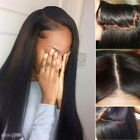 Women's Glueless Lace Front Wig Straight Peruvian Remy Human Hair Full Lace Wigs