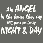 Angel In The House - Large Vinyl Wall Quote / Vinyl Decal / Big Vinyl Quote QU66