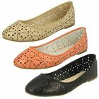 Ladies Spot On Casual Ballerina Shoes F80139