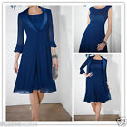 Plus Size Royal Blue Free Jacket Wedding Mother of the Bride Dresses Mum Outfits