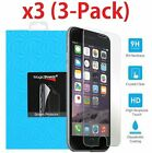 3-Pack Premium Tempered Glass Film Screen Protector for iPhone 6 6s 7 7 Plus