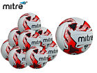 *BRAND NEW* 10 x MITRE - TACTIC TRAINING FOOTBALL - WHITE/BLACK/RED - S 3 4 & 5