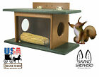 SQUIRREL HOUSE FEEDER See-Thru Wall Tree Post Mount Recyc...