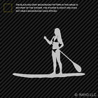 Girl Paddleboarding Sticker Die Cut Decal surf paddle board woman
