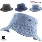 Women's Washed Cotton Denim Bucket Hat