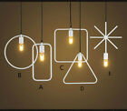 New Loft Retro Industrial Geometric Cage Simple Pendant lamp Ceiling lights