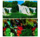 """Aquarium Fish Tank poster 20""""H Background Double sided pic waterfall coral wood"""