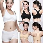 New Fashion Lady Women's Basic Sports Yoga Crop Hollow Removable Pads OO5501
