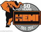 """MOPAR """"50 Years of HEMI"""" Removable Wall Decal Graphic Man Cave Decor Garage"""
