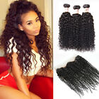 7A Malaysia Curly Human Hair 3 Bundles Weft w/360 Lace Frontal Curly Closure