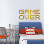 GAME OVER retro video gamer boys bedroom space invaders wall art sticker decal