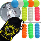 5x SMOOTHIE (UV) Pro LEATHER THUD Juggling Balls Set of 5 + Ball DVD + Bag