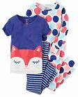 Carter's   Girls' 4-Piece Snug Fit Cotton PJs   MSRP$44.00   Size 4--12