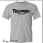 TRIUMPH MOTORCYCLE T SHIRT LOGO, BEST LOGO IMAGE. SPORT GRAY SHIRT FREE SHIPPING $14.00 USD