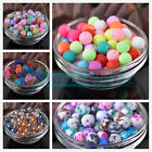 Wholesale 4mm 6mm 8mm 10mm 12mm Mixed Color Round Glass Loose Spacer Beads