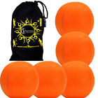 5x SMOOTHIE (UV) Professional LEATHER THUD Juggling Ball - Set of 5 Balls + Bag