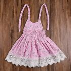 3-6T Kids Baby Girls Sleeveless Lace Floral Clothes Princess Party Pageant Dress