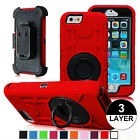 Hybrid Outer Box Case Cover & BeltClip Holster Stand for iPhone 6 6s  6 Plus 5.5