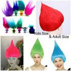 Trolls-Movie Style Festival Party Colourful ELF/PIXIE  Wig Cartoons Character-UK image