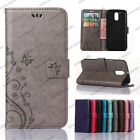 Embossed Flower Luxury Leather Wallet Case Stand For Motorola Moto G3 G4 G5 Plus