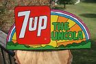 7up The Uncola Rainbow Flange Soda Advertising Sign Stout Sign Co 1971