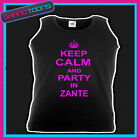 KEEP CALM AND PARTY IN ZANTE HOLIDAY CLUBBING HEN PARTY UNISEX VEST TOP