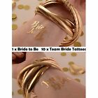 TEAM BRIDE TEMPORARY TATTOOS - Hen Party Gold Team Bride / Bride to Be Tattoos