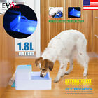 LED/UV Automatic Pet Water Drinking Filter Fountain Bowl Dogs Cats Drinker Newes
