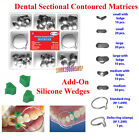 Dental Add-On Wedges Sectional Contoured Matrices Metal Matrix Ring DeltaNO.1.39