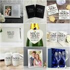 Personalised Mr & Mrs Wedding Day Gift Ideas Present for Bride & Groom Him & Her