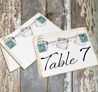 DOUBLE or SINGLE SIDED ITALY ITALIAN POSTCARD WEDDING TABLE CARDS or SIGNS #185