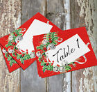 LARGE DOUBLE or SINGLE SIDE JINGLE BELL HOLLY WEDDING TABLE CARD SIGN #194