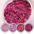 Nail Art Glitter Powder Shiny Sequin Red Pink Purple Colorful  Accessory
