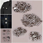 50x Heavy Duty Poppers Snap Fasteners Press Stud Rivet For Sewing Leather Craft