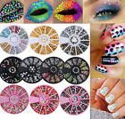 3D Nail Art Studs Rhinestones Glitters Stickers Tips  DIY Decoration