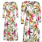 AVEVOG Women Casual Floral Print Pleated Vintage Style Dress CYBD01